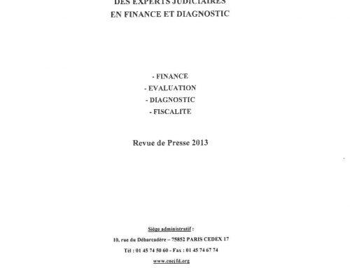 Articles publiés par la CNEJFD – recueil 2013