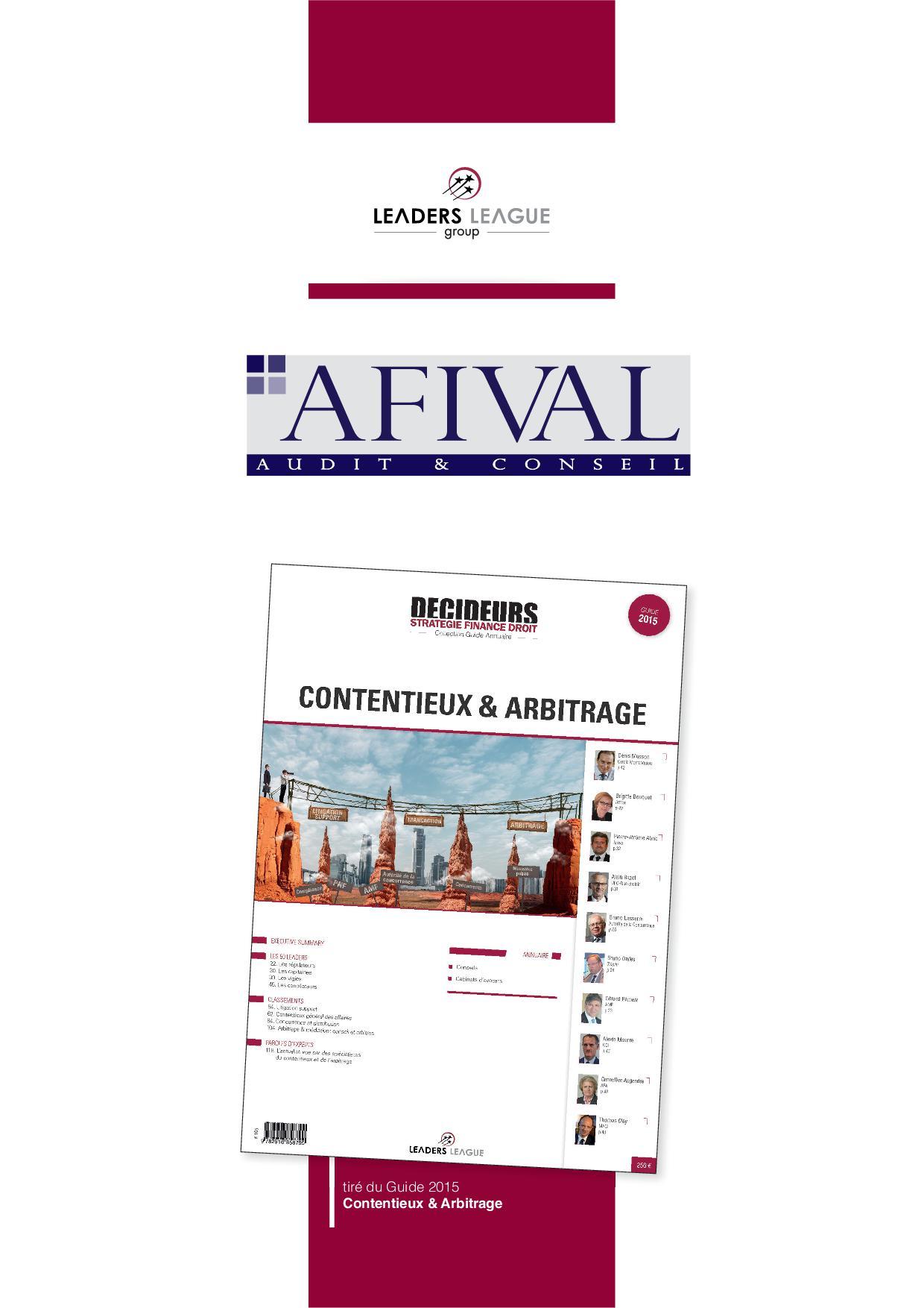 AFIVAL_TAP_Contentieux_2015 SITE INTERNET
