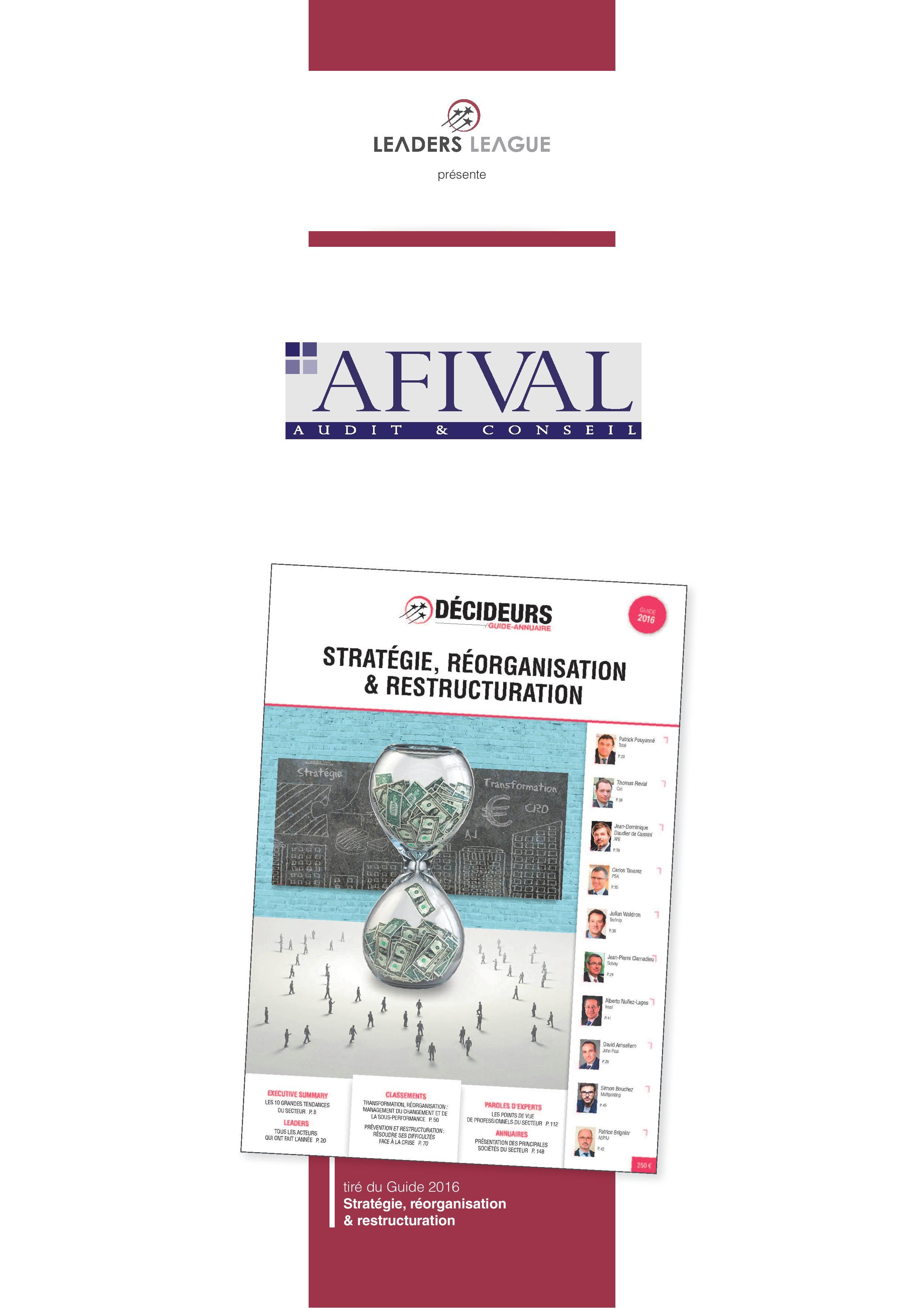 Auditeurs et conseils financiers leaders league classement 2016 afival audit conseil - Classement cabinet conseil ...