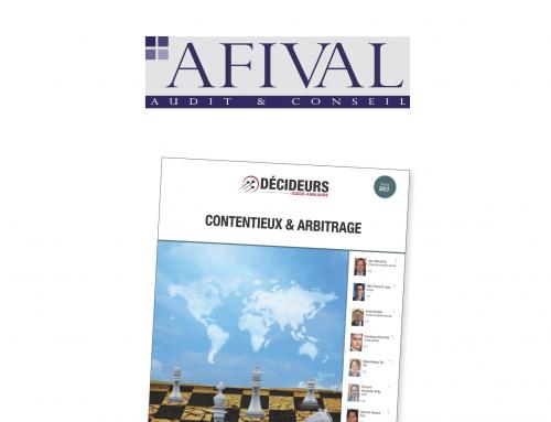 Afival dans le classement Leaders League 2017 : Contentieux et Arbitrage