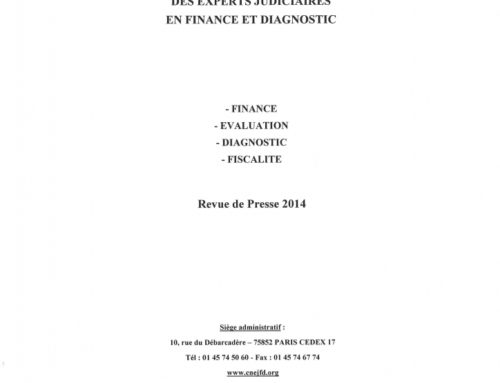 Finance and evaluation – Articles published by the CNEJFD – collection 2014